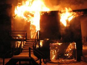 incendie maison à ossature bois