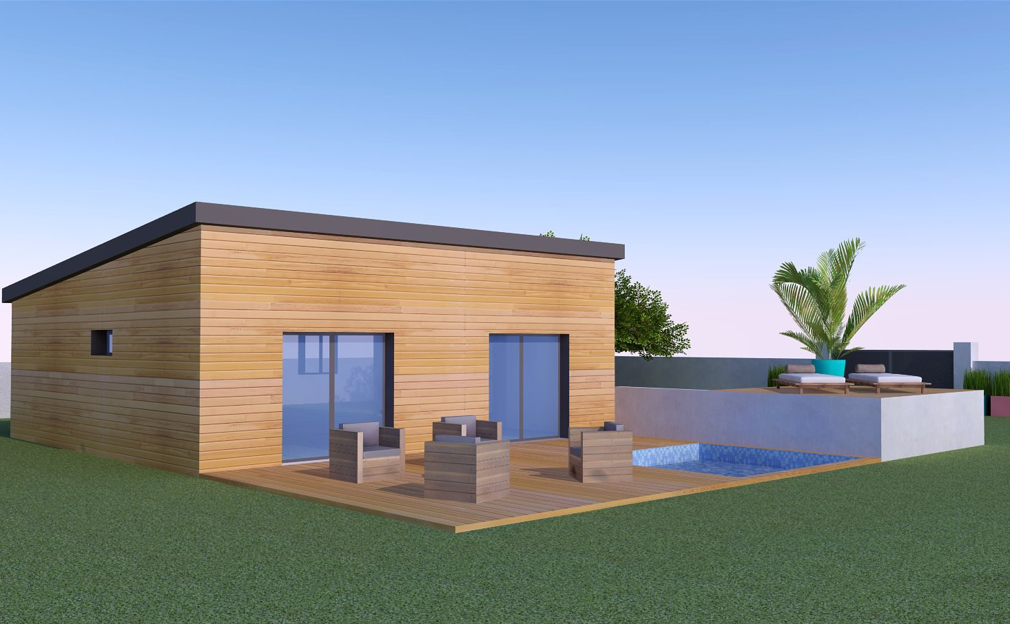 Prix construction maison en bois kit maison bois for Tarif desherbage m2